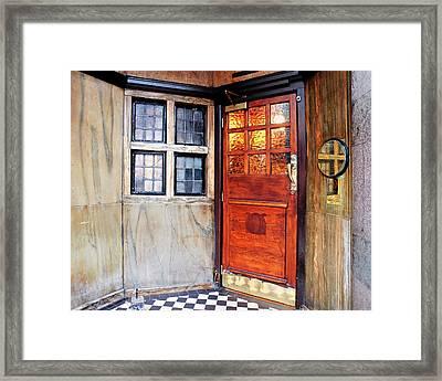 Saloon Bar Door - Entrance To The Black Friar London Pub Framed Print