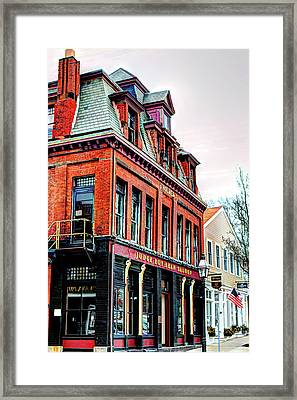 Framed Print featuring the photograph Saloon Bristol Ri by Tom Prendergast