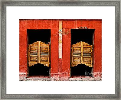 Saloon Door 2 Framed Print by Mexicolors Art Photography