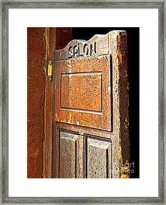 Saloon Door 3 Framed Print by Mexicolors Art Photography