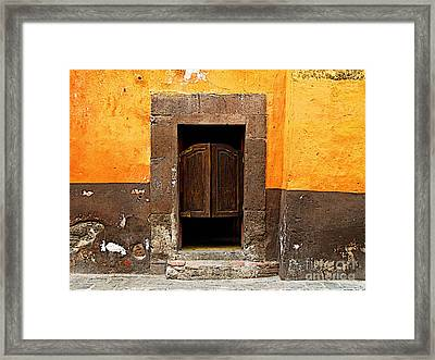 Saloon Door 4 Framed Print by Mexicolors Art Photography