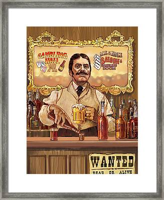 Saloon Keeper Framed Print by Valer Ian