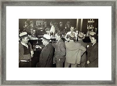 Saloon Opens - Prohibition Ends 1933 Framed Print