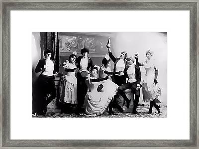 Saloon Women Framed Print