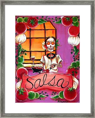 Salsa Framed Print by Heather Calderon