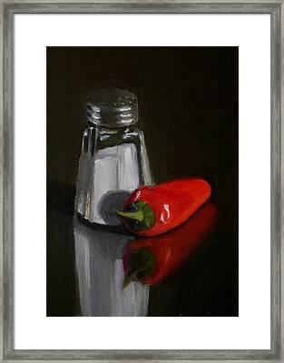 Salt And Pepper Framed Print by Becky Alden