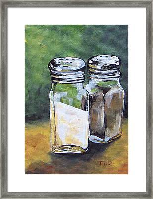 Salt And Pepper I Framed Print by Torrie Smiley