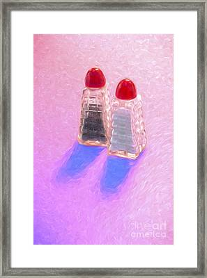 Salt And Pepper Shakers Framed Print by George Robinson