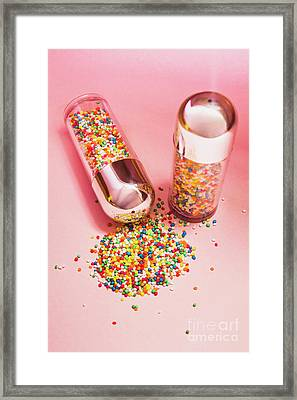 Salt And Pepper Shakers With Confetti Framed Print by Jorgo Photography - Wall Art Gallery