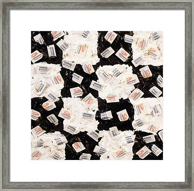 Salt And Pepper Framed Print
