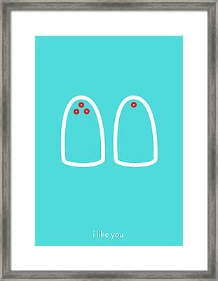 I Like You. You Add Flavor To My Life. Framed Print by Lina Tumarkina