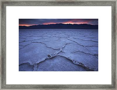 Salt Flats At Badwater Basin Framed Print by Michael Melford