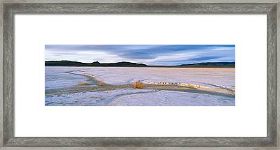 Salt Flats At Sunset, Route 50, Nevada Framed Print by Panoramic Images