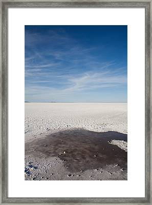 Salt Flats Framed Print by Luigi Barbano BARBANO LLC