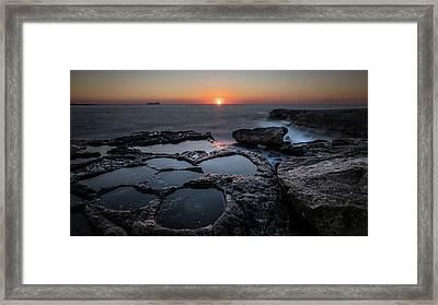Salt Flats - Marsaskala, Malta - Seascape Photography Framed Print by Giuseppe Milo