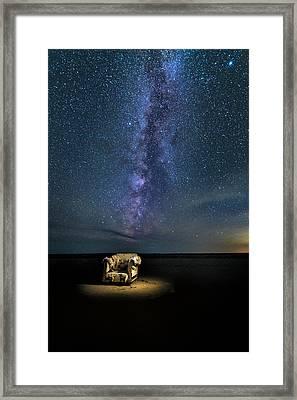 Salt Flats Milky Way Chair Framed Print