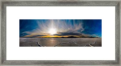 Salt Flats Sunset Framed Print