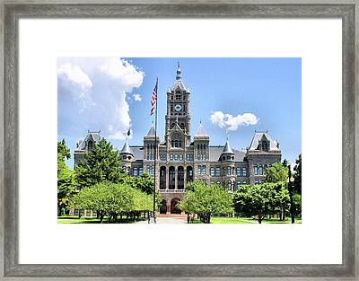 Salt Lake City County Building Framed Print by Kristin Elmquist