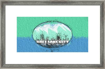 Salt Lake City Flag Framed Print by JC Findley