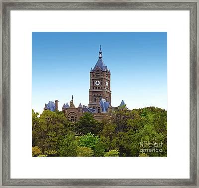 Salt Lake City Hall Framed Print