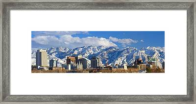 Salt Lake City Skyline Framed Print by Utah Images