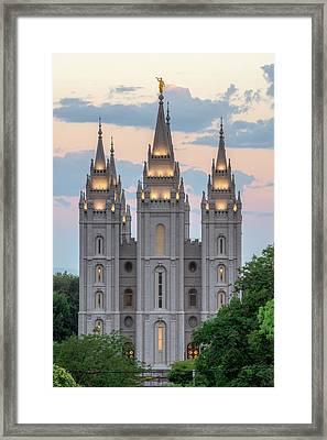 Salt Lake City Temple Morning Framed Print by Dustin  LeFevre