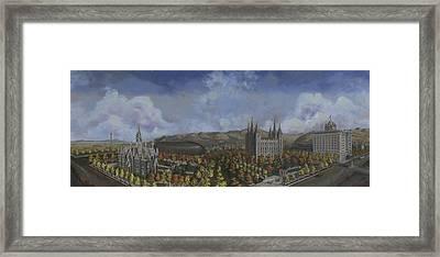Salt Lake City Temple Square Nineteen Twelve  Framed Print by Jeff Brimley