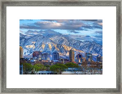 Salt Lake City Utah Usa Framed Print by Utah Images