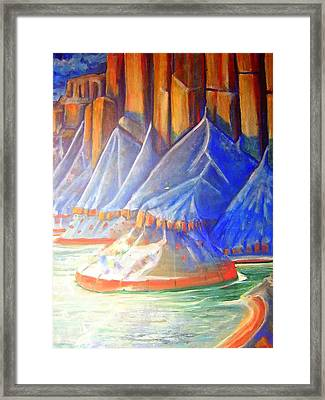 Framed Print featuring the painting Salt Lake by Steven Holder