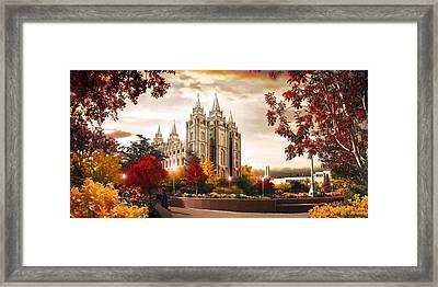 Salt Lake Temple - Autumn Framed Print
