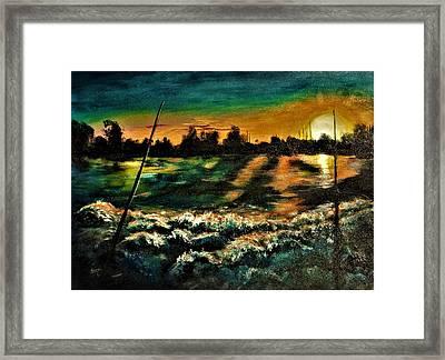 Salt Life At Sunrise Framed Print