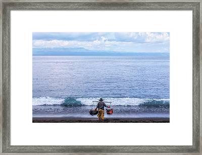 Salt Making - Bali Framed Print