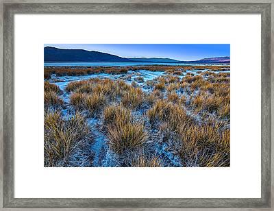 Salt Marsh Death Valley Framed Print