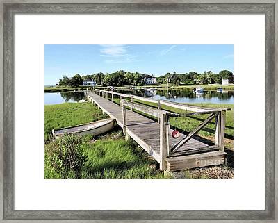 Salt Marsh Duxbury Ma Framed Print