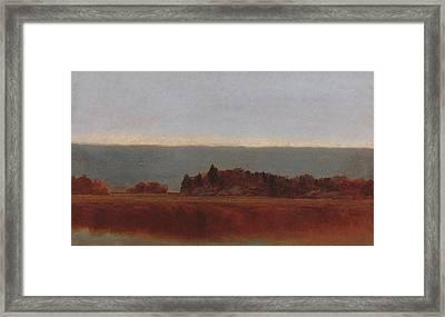 Salt Meadow In October Framed Print
