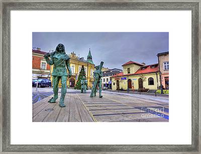 Framed Print featuring the photograph Salt Miners Of Wieliczka, Poland by Juli Scalzi