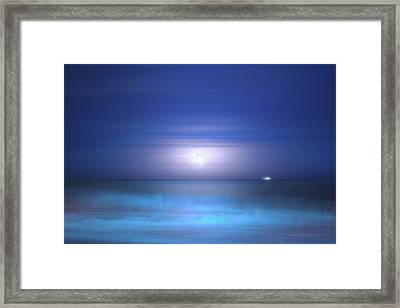 Framed Print featuring the photograph Salt Moon by Mark Andrew Thomas