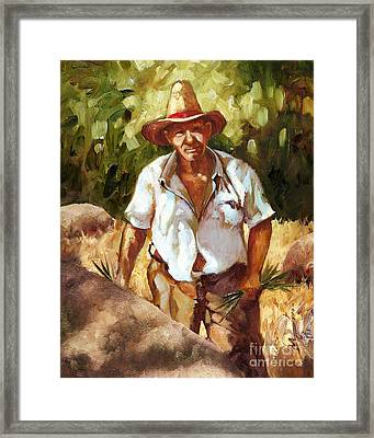 Salt Of The Earth Framed Print by Monica Linville