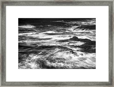 Salt Point Chaos Framed Print