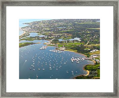 Salt Pond Framed Print by Beth Saffer