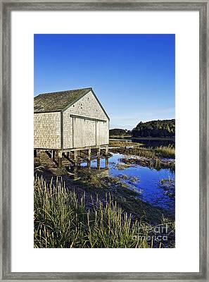 Salt Pond Boathouse  Framed Print