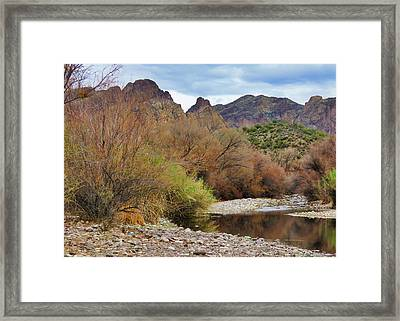 Salt River Pebble Beach Framed Print
