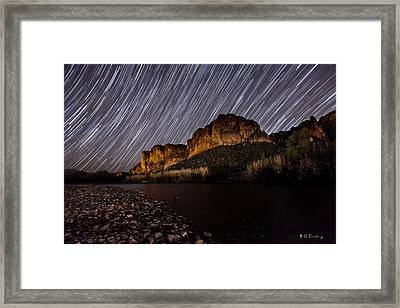 Salt River Star Trails Framed Print by Bill Cantey