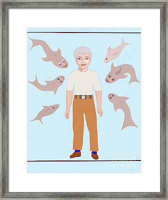 Salt Water Friends Framed Print by Fred Jinkins