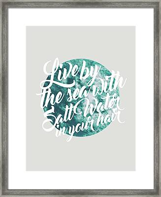 Salt Water Framed Print