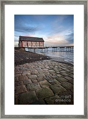 Saltburn By The Sea Framed Print by Nichola Denny