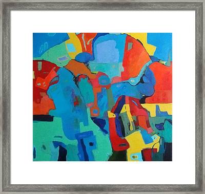 Framed Print featuring the painting Saltillo Summers by Bernard Goodman