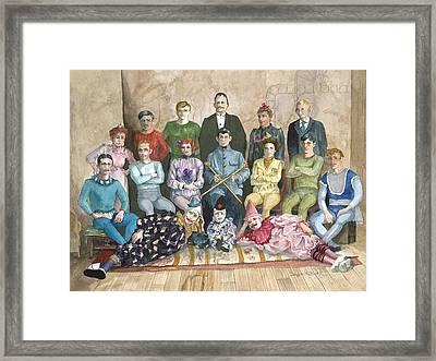 Saltimbanques Framed Print