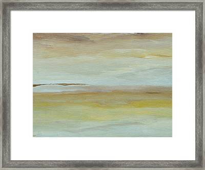 Framed Print featuring the painting Saltmarsh  by Conor Murphy