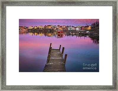 Salto Island Serenity Framed Print by Inge Johnsson